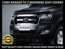 FORD RANGER PX2 FRONT & REAR DUAL CAB  NEOPRENE SEAT COVERS ( WETSUIT MATERIAL )