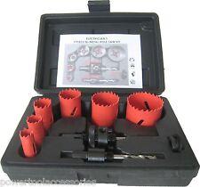 MTL 9pc Bimetal Holesaw Kit hole cutter set for Electricians:16/20/25/32/40/51mm