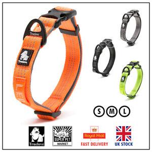 Collar Dog Truelove Soft Padded Adjustable Reflective Strong Orange Grey S M L