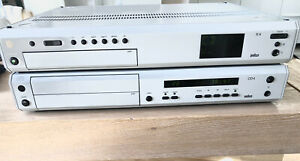 Braun Atelier HiFi Receiver R4 und CD Player CD4, grau, sehr guter Zustand.