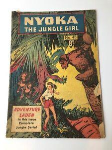 Vintage Nyoka The Jungle Girl Comic No 45 1950's