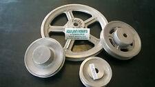 Puleggia in alluminio sezione A ad una gola di vari diametri da 40mm a 500mm