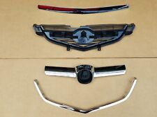2004-2006 ACURA TL Front Bumper Grille Upper Center Lower Chrome Molding SET 4PC