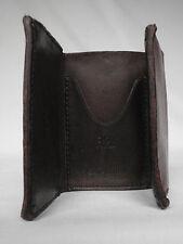 NUOVO Ralph Lauren Rrl raccolta MARRONE SCURO IN PELLE TRIFOLD WALLET RRP £ 195