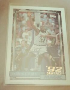Shaquille o'neal 92 Toops Draft Pick