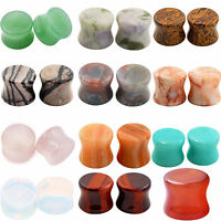 Details about  /Pair Natural Organic Stone Flesh Ear Tunnels Plugs Gauges Ear Expander 6mm-16mm