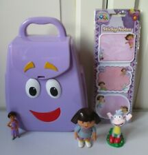 VGC Talking Backpack Dora The Explorer Figure Boots Dora Sticky Pads x3 NEW PACK