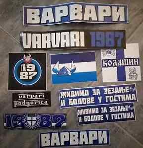 10 x Football Ultras Stickers VARVARI Podgorica
