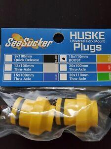Seasucker HUSKE 15x110mm Thru-Axle Boost Gold Plugs HUSKE Bike Rack Fork Mount