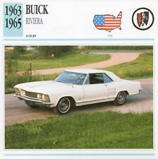 1963-1965 BUICK RIVIERA Classic Car Photograph / Information Maxi Card
