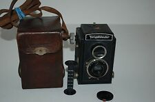 Voigtlander Brillant German Pre War TLR Medium Format Camera & Case. Serviced.