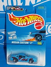 "Hot Wheels 1997 Mainline Release #600 Nissan Custom ""Z""  Blue w/ WSPs China Base"