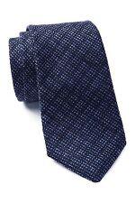 ALEXANDER OLCH Solid Narrow Wool Necktie in Dark Blue NWT Made in USA