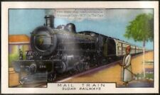 Sudan Africa Railways Mail Train 80+ Y/O Ad Trade Card