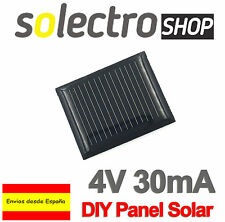 4V 30mA Panel Solar DIY Sistema BRICOLAJE Móvil Cargador Fotovoltaico Celda