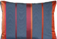 Red Striped Cushion Cover Blue Silk Fabric Marvic Adriatico Throw Pillow Case