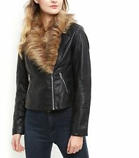 New Look Women's Faux Leather Zip Biker Coats & Jackets