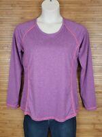 Reebok RBX Performance Purple Long Sleeve Athletic Shirt Womens Size XL EUC