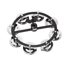 Meinl HTHH1BK Headliner Series Hi-Hat Tambourine, 1 Row Steel Jingles, Black