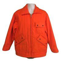 Vtg Saf-T-Bak Hunter Safety Orange Hunting Jacket Measures Large Free Shipping!
