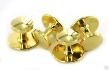 Navy Shirt Studs Gold 4 On A Card Per Set New (made in Usa)