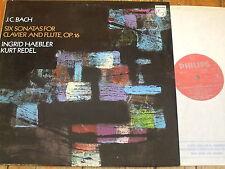 6500 121 J.C. Bach Six Sonatas for Clavier & Flute / Haebler / Redel