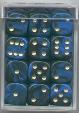 NEW Dice Cube Set of 36 D6 (12mm) - Oblivion Blue