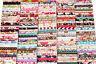 10 PCs Cotton Fabric Quilt Patchwork Flower Mix Bundle Job Lot Offcuts Scraps R1