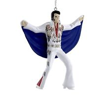 Kurt Adler Elvis Presley White Eagle Suit King Ornaments Christmas Decor Gift