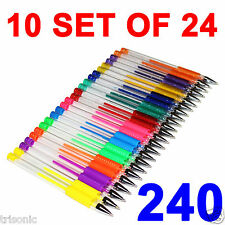 240 Gel Pens Set Pen Glitter Neon Metallic Color Art Coloring Books Colors Craft