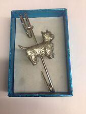 "Scarf or Brooch 3"" 7.5 cm Westie Pp-D03 Pewter Emblem on Kilt Pin"