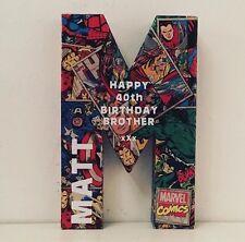 8 Inch Dc Comic Inspired Marvel Batman The Avengers Superman Initial Letter Name