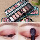 Eyeshadow Palette Matte Shimmer Brush Mirror Set Makeup Cosmetic 8 Pop*