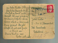 1944 Germany to Theresienstadt Concentration Camp Postcard Cover Jakob Winkler 3