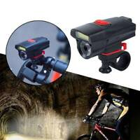 Bike Front Head Light Cycling Bicycle LED Lamp Flashlight 6 Modes + Clip Holder_