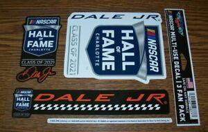 DALE EARNHARDT JR CLASS OF 2021 3 PACK NASCAR WINCRAFT 5X7 DECAL STICKER SHEET