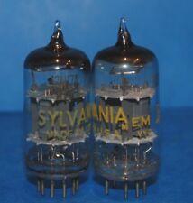 12AU7 D Getter Raytheon, Sylvania o whouse. 2 el mismo Tubo de Válvula Usado Probado