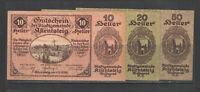 Austria NOTGELD ALLENTSTEIG        1920     Set of 3   UNC