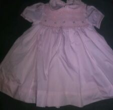 Petit Ami Vtg  Floral Vintage Smocked Baby Girls Dress Sz 3 Months