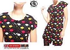 Nylon Round Neck Short Sleeve Floral Dresses for Women
