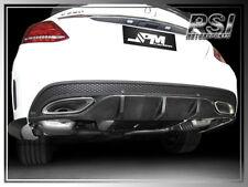 Carbon Fiber Rear Bumper Diffuser Cover - Mercedes-Benz W205 C-Class