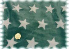 Kuschelnicky Sterne dunkles mint Fleece Plüsch 50 cm Kuschelstoff