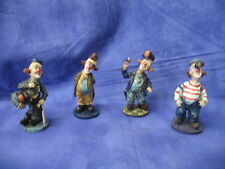 Set of 4 Different Clown Figurines Clowns with Balls