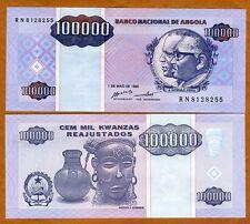 Angola, 100,000 (100000) Kwanzas Reajustados, 1995, P-139, UNC