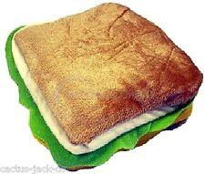 Nuevo Novedad Sandwich Acolchado Fieltro cremallera maletín de hasta 24 Cd's Dvd's