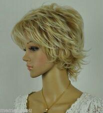 New Dark Blonde Mixed Short Curly  women Full Wig
