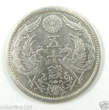 JAPAN Silver Coin 50 Sen TAISHO 12 Year (A.D.1923)