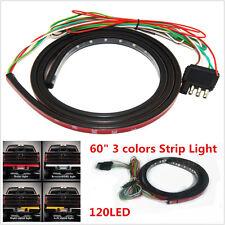 """3 color 60"""" Amber/white Tailgate LED Strip Light Bar Reverse Brake for PICK-UP"""