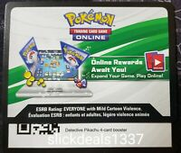 4x Pokemon Detective Pikachu 4-Card Booster Pack Online Code Card - FAST!