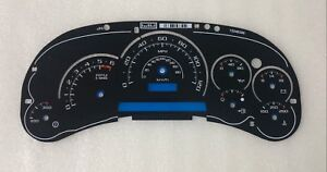 2003 2004 2005 GM Hummer H2 Cadillac Escalade Cluster Gauge Overlay Trans Temp